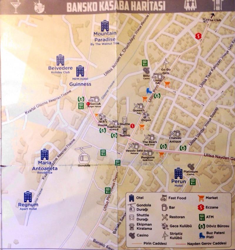 Bansko Kasaba Haritası